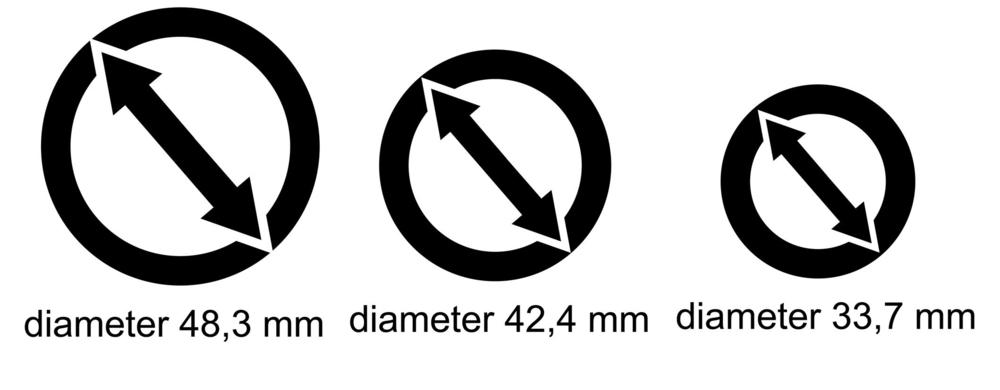 Danspalen diameters van Danspalen.com